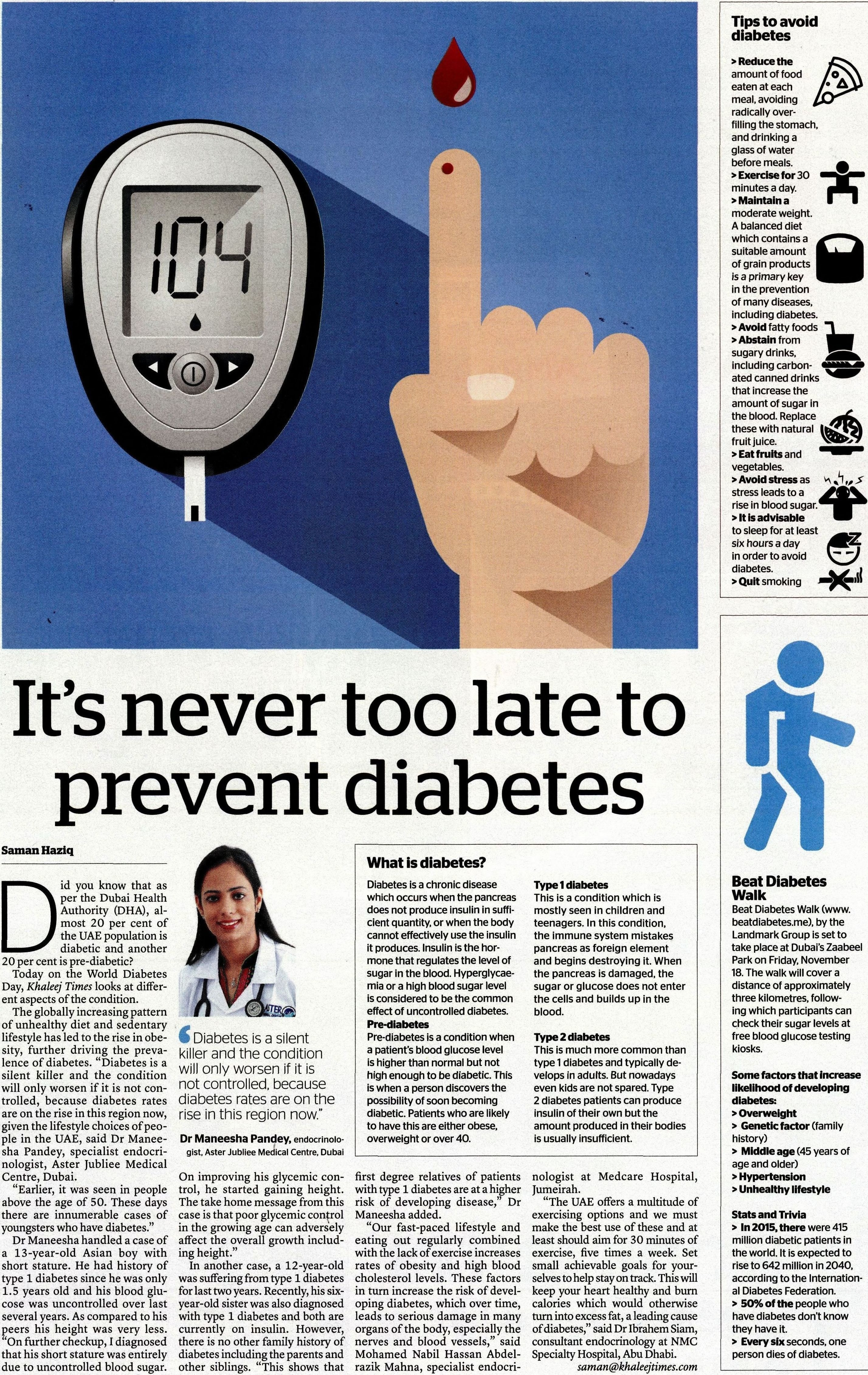 type 2 diabetes a silent killer In type 2, which affects almost 90 percent of older diabetics, the body cannot effectively utilize available insulin a diagnosis of pre-diabetes does not mean the patient is diabetic, but that the patient's blood glucose levels are higher than normal.