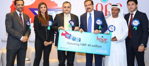 "UBAI, July 02, 2015: Aster DM Foundation, the charitable arm of Aster DM healthcare, today extended a helping hand to Nepal by providing AED1.4 million (NPR40 million) funds to Nepal Prime Minister relief fund to rebuild 500 houses in earthquake-stricken villages, including 23 homes of Aster employees that were destroyed by the tragedy. Dr Azad Moopen, Chairman and Managing Director of Aster DM Healthcare personally delivered the contribution to His Excellency Dhananjay Jha, Nepal Ambassador to the UAE, in the presence of other dignitaries during a handover ceremony. ""Nepal and its people are very close to our hearts and aid for the Himalayan nation is crucial at present. From our own ranks, we have 23 employees affected by the devastating quake. Since this earthquake hit so close to home, Aster DM Foundation has promised them assistance in rebuilding their homes to do what we can do at this time. We would like to also thank a number of our employees at Aster DM Healthcare who came together and contributed to the fund,"" said Dr. Azad Moopen. Last April, Nepal was struck by a powerful earthquake and subsequent aftershocks wiping out hundreds of thousands of houses, rendering many Nepalis homeless, hungry and susceptible to disease. By rebuilding those 500 homes, Aster DM will provide people with a solid foundation from which they can recover and move on from the earthquake. Receiving the contribution, HE Dhananjay Jha, Nepal Ambassador to the UAE, said, ""We are extremely grateful to Dr. Azad Moopen and his Foundation for coming forward to help the grieving Nepali families affected by the deadliest earthquake in eight decades. This donation will go towards the efforts to help the victims of the devastating earthquakes."" Dhukul Raj, an employee of Aster DM Healthcare Group in Dubai and whose house was damaged by the earthquake expressed his gratitude for the assistance: ""It means a lot that the people I work with have come together to help all of us who were affected by the calamity. We can not thank them enough for their generosity. It means a lot to my family that help has come for us to rebuild not just our house but our lives."" About Aster DM Healthcare Aster DM Healthcare currently owns and operates a network of close to 290 units across the Middle East and India, covering an array of healthcare verticals including clinics, hospitals, pharmacies, and a modern medical city. These network units are consolidated under the brand names ACCESS, ASTER, MEDCARE, ASTER Medcity and MIMS. The multitude of health facilities that include 16 hospitals offer primary, secondary, tertiary and quaternary care in order to meet the requirements of people from a cross section of the society. About Dr. Moopen's Foundation Dr. Moopen's Foundation is the charitable and CSR division of Aster DM Healthcare. The Foundation rolled out several CSR programmes including Free and Subsidized surgical care like Adult & Paediatric Cardiac Surgery Programmes"