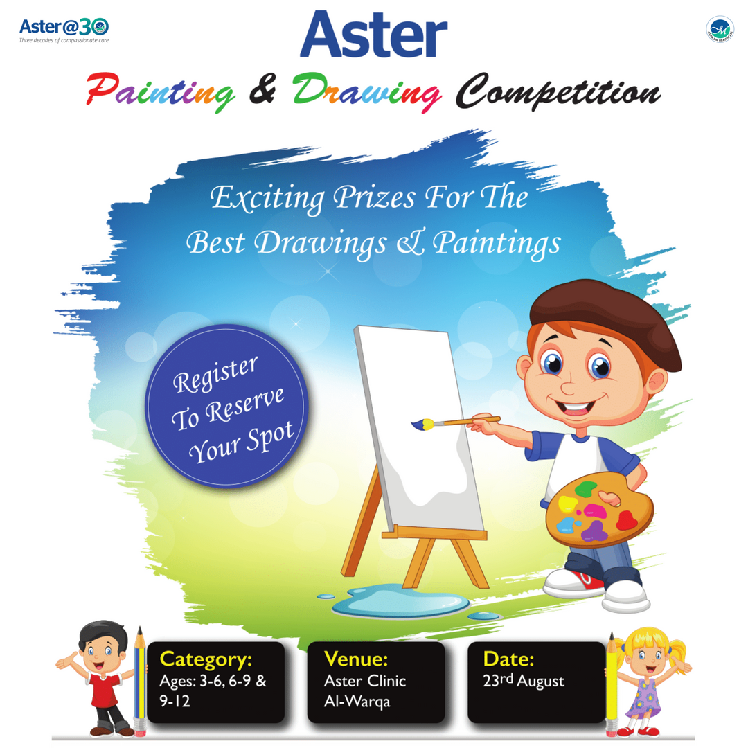 Drawing competition Aster Clinic, Al Warqa